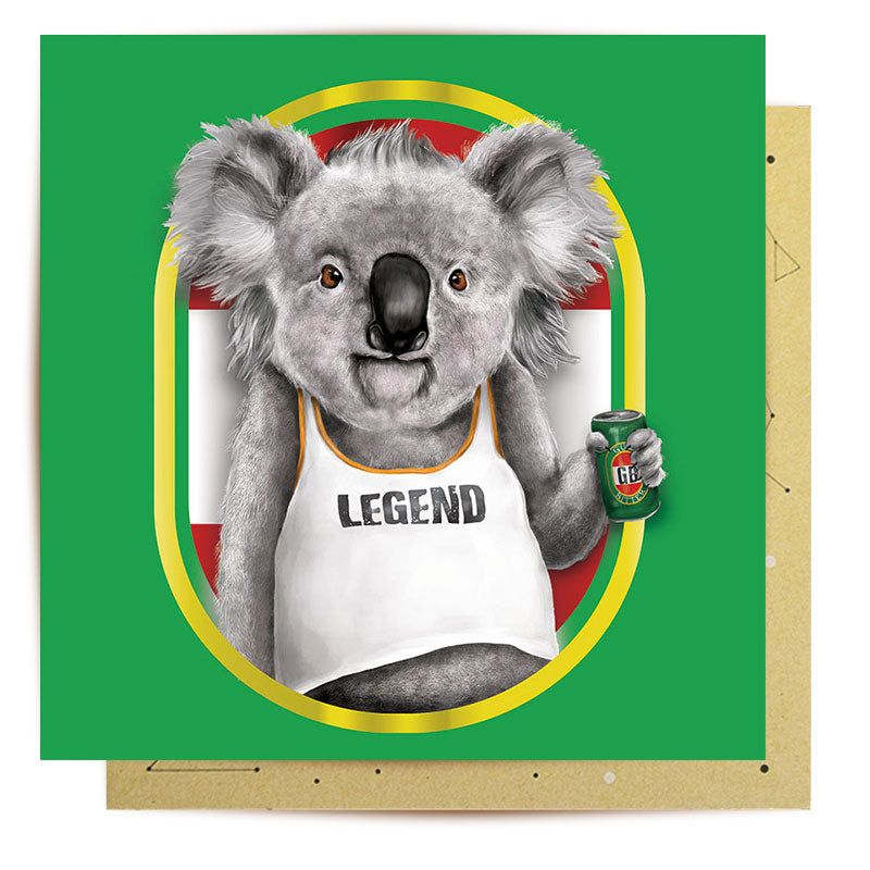 Australian Greeting Cards - Bogan Koala