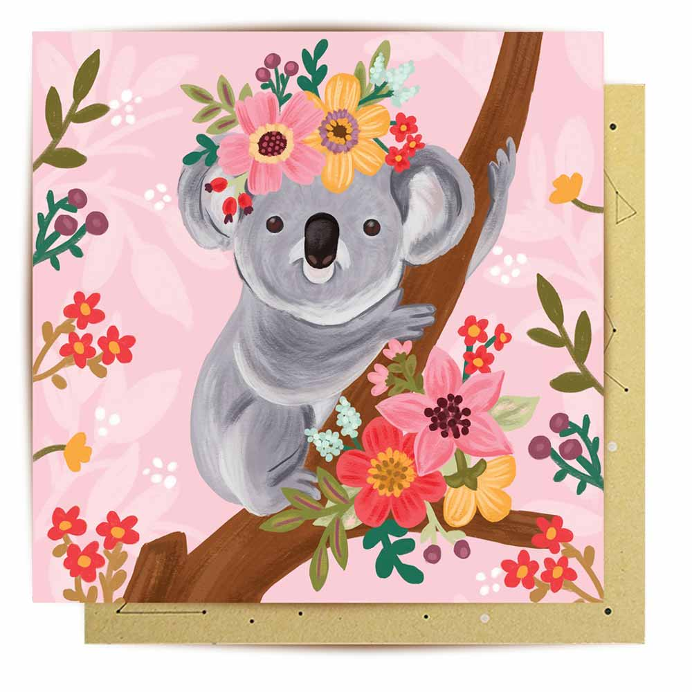 Koala Lovers Australian Made Greeting Card La La Land