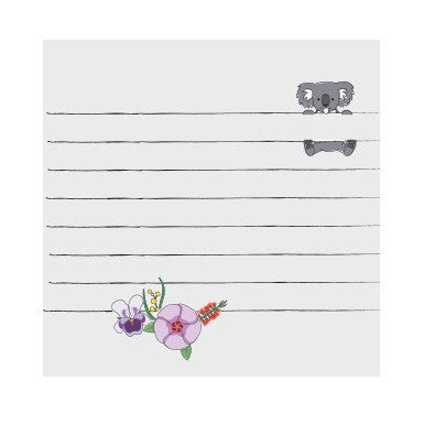 Australian Made Gifts & Souvenirs with the Koala Sticky Notes -by Bits of Australia. For the best Australian online shopping for a Sticky Notes - 1