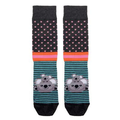Australian Made Gifts & Souvenirs with the Smiling Koala Charcoal Socks -by Bellbrae. For the best Australian online shopping for a Socks - 1