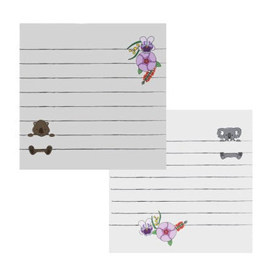 Australian Made Gifts & Souvenirs with the Koala & Wombat Sticky Notes -by Bits of Australia. For the best Australian online shopping for a Sticky Notes - 1