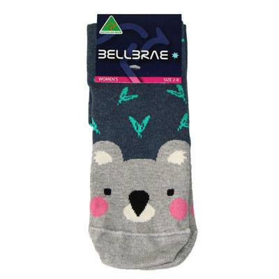 Australian Made Gifts & Souvenirs with the Womens Koala Socks Blue -by Bellbrae. For the best Australian online shopping for a Socks - 2