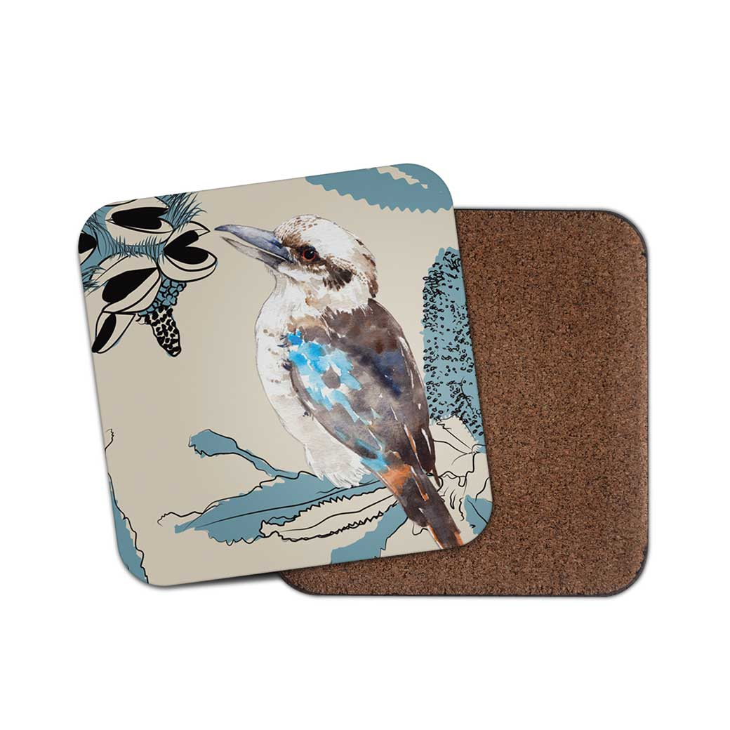 Kookaburra Illustration Coaster