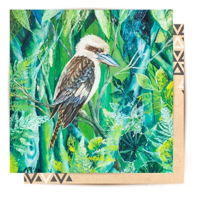 Australian Made Gifts & Souvenirs with the Kookaburra Greeting Card -by La La Land. For the best Australian online shopping for a Greeting Cards