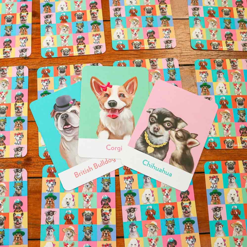 La La Land Canine Cuties Memory Card Games for Dog Lovers