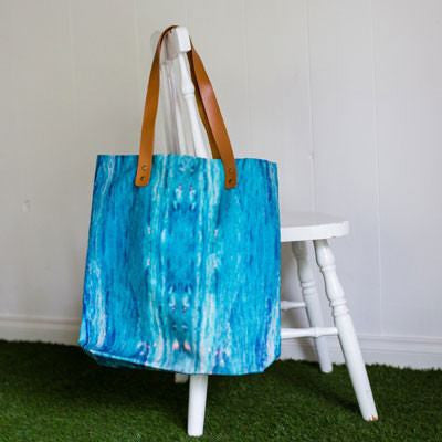 Large Summer Seas Tote Bag