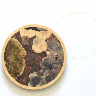 Australian Gifts for the Home - Lichen Coasters made in Tasmania