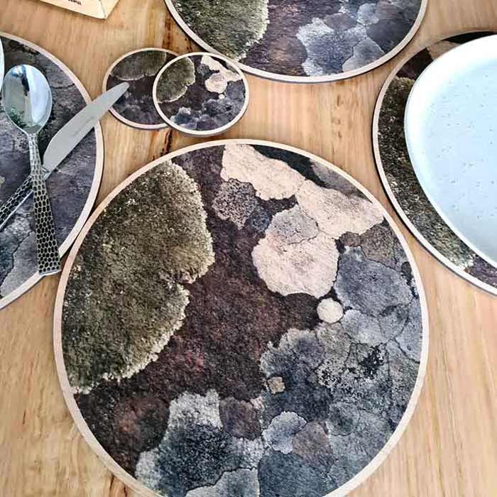 Wooden placemats and coasters made in Tasmania