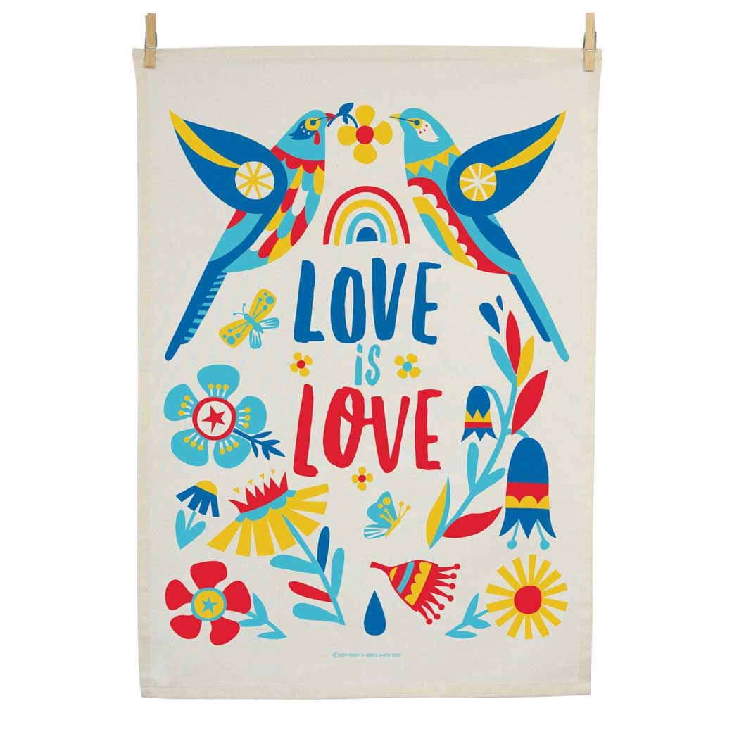 Love is Love Gifts Australia - Organic Cotton Tea Towel