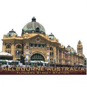 Australian Made Gifts & Souvenirs with the Flinders Street Station Magnet -by Visit Merchandise. For the best Australian online shopping for a Magnets - 1