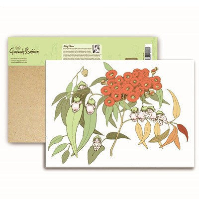 Australian Made Gifts & Souvenirs with the May Gibbs Gumnut Scenes A6 Notepad -by Customworks. For the best Australian online shopping for a Souvenirs