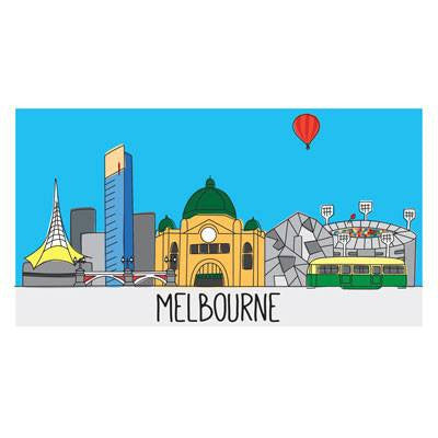 Australian Made Gifts & Souvenirs with the Large Melbourne Magnet -by Bits of Australia. For the best Australian online shopping for a Stationery - 1