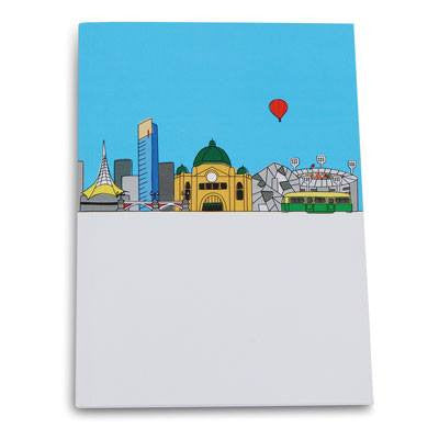 Australian Made Gifts & Souvenirs with the Melbourne A5 Notebook -by Bits of Australia. For the best Australian online shopping for a Stationery - 1
