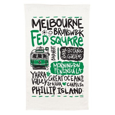 Melbourne Cotton Tea Towel