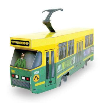 Australian Made Gifts & Souvenirs with the Melbourne Trams 3D Construction Postcard -by Odd Ball. For the best Australian online shopping for a Accessories - 1