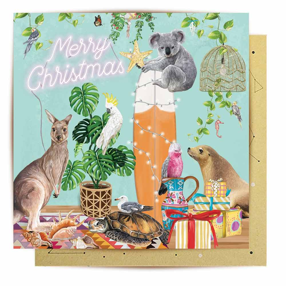 Merry Christmas From The Australian Coast Greeting Card