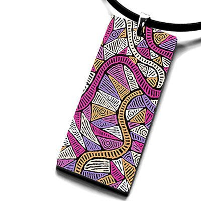 Australian Made Gifts & Souvenirs with the Mina Mina Pendant Necklace -by Occulture. For the best Australian online shopping for a Aboriginal Designs
