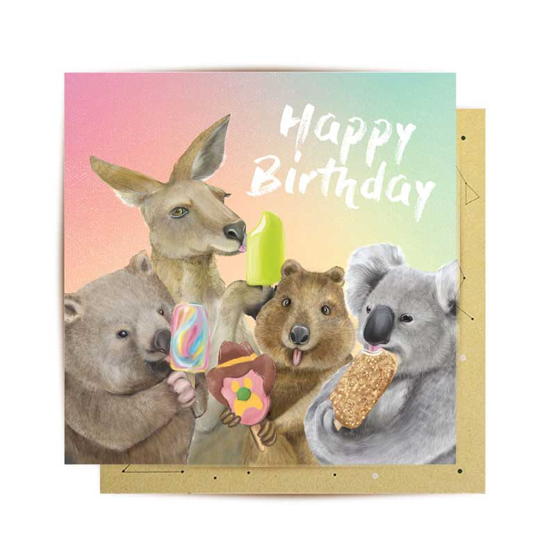 Unique Birthday Card From Australia For Gifts