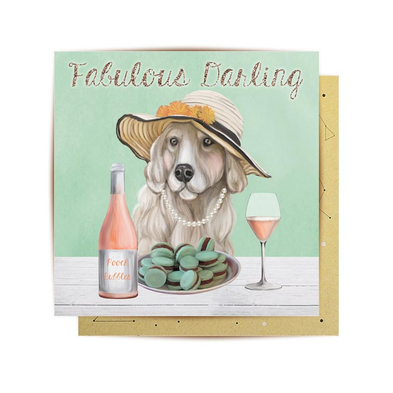 Dog Lovers Mini Card Fabulous Darling Pooch