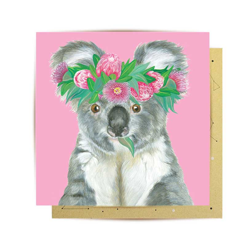 Koala themed gifts Australia - La La Land Australian Made Greeting Cards Olivia Yorke
