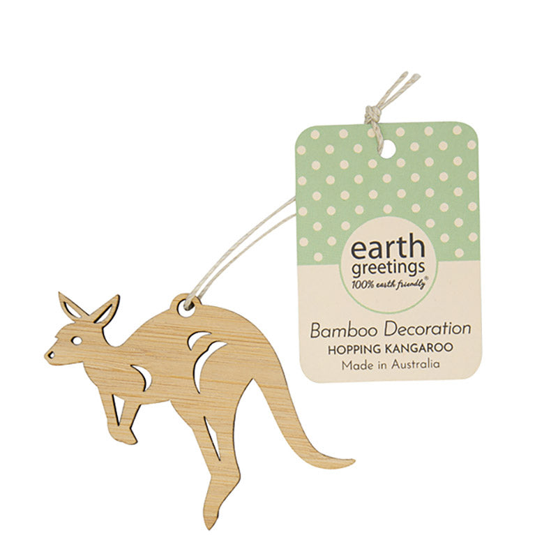 Mini Kangaroo Bamboo Decoration Australian Made