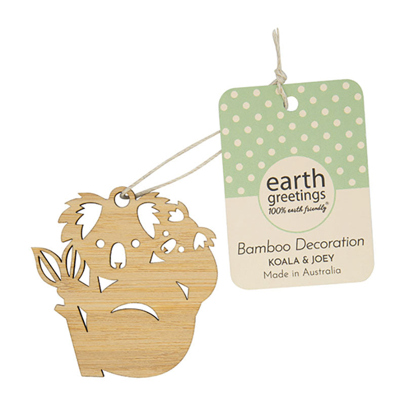 Mini Koala Christmas Decoration Australian Made Sustainable Bamboo