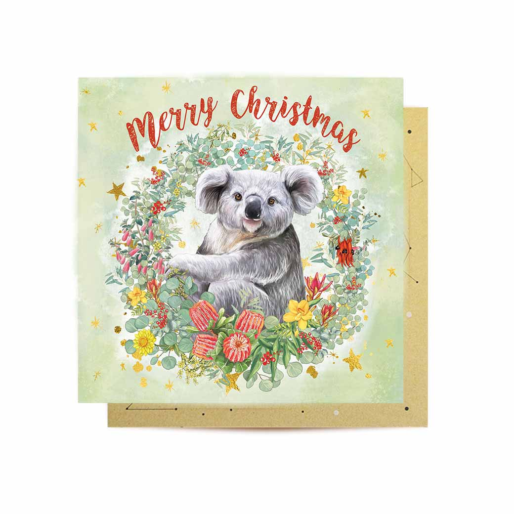 Christmas Koala Mini Card
