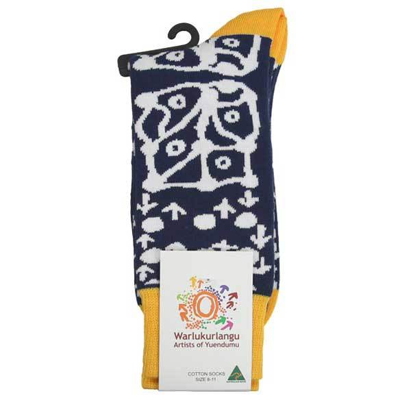 Paddy Stewart Aboriginal Artwork Socks