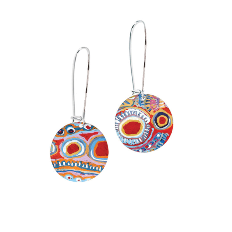 Australian Aboriginal Jewellery - Silver Earrings Made in Australia Occulture