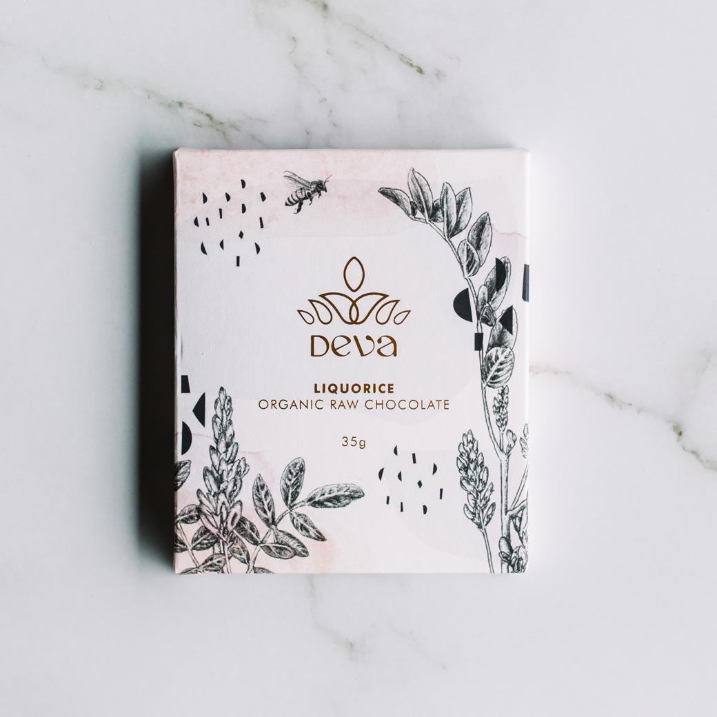 Deva Cocoa Gourment Organic Raw Chocolate Liquorice for Dads