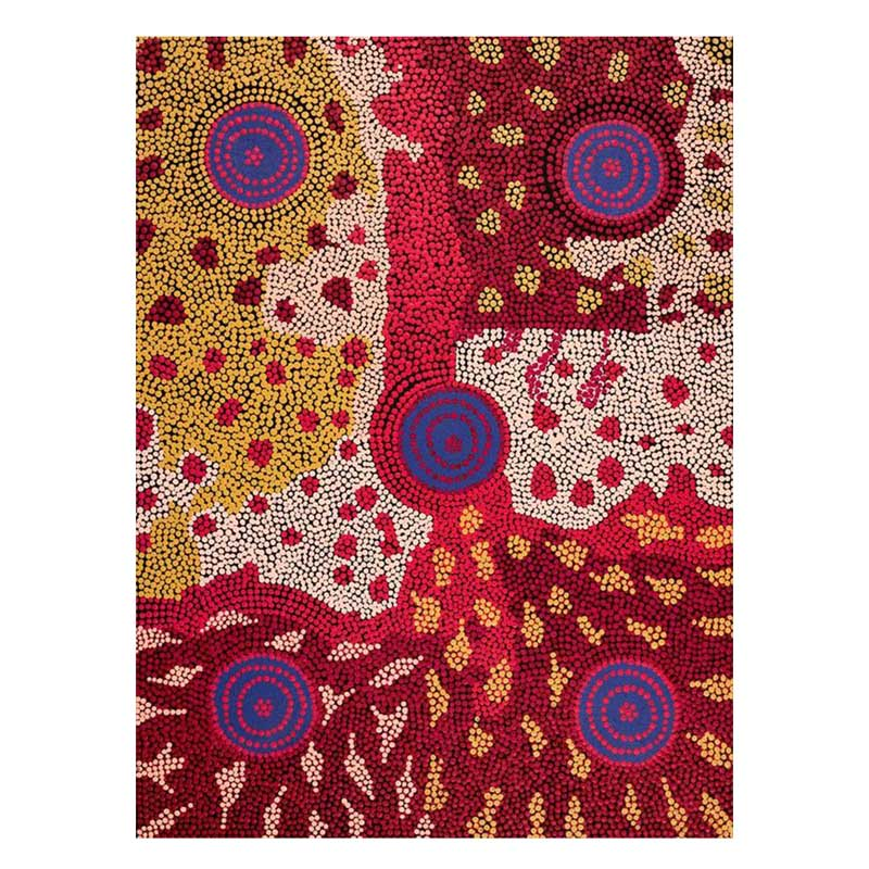 Australian Aboriginal Art Nyirripi Painting for unique Gifts for Chinese Visitors