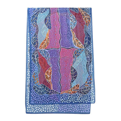 Australian print scarf - indigenous design bush leaves