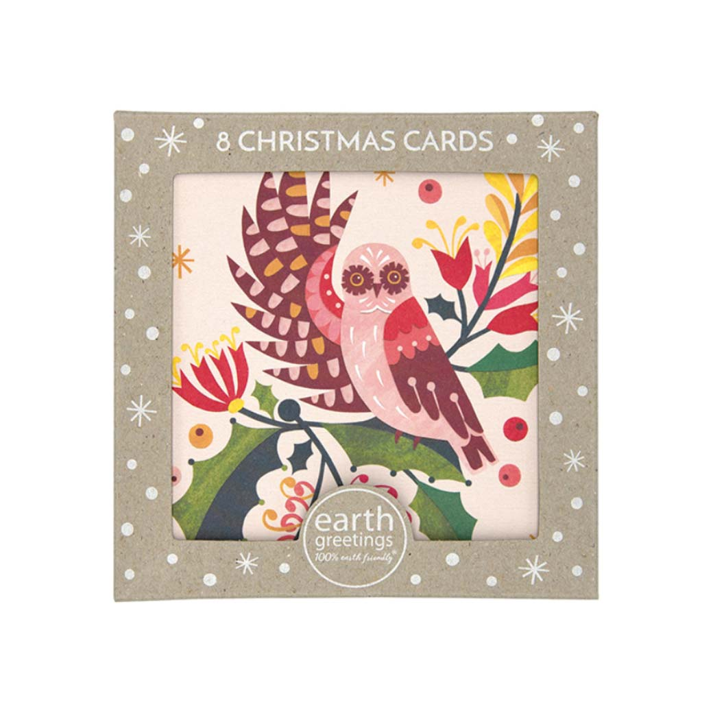Owl Christmas Card Pack Made in Australia by Earth Greetings
