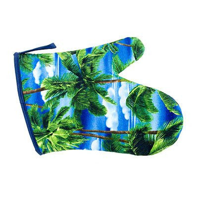 Australian Made Gifts & Souvenirs with the Palm Trees Oven Mitt -by Annabel Trends. For the best Australian online shopping for a Oven Mits