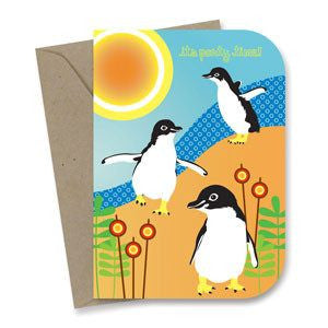 Australian Made Gifts & Souvenirs with the Penguin Birthday Card -by Earth Greetings. For the best Australian online shopping for a Greeting Cards