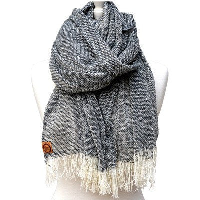 Australian Made Gifts & Souvenirs with the Pepper Merino Loose Weave Scarf -by The Spotted Quoll. For the best Australian online shopping for a