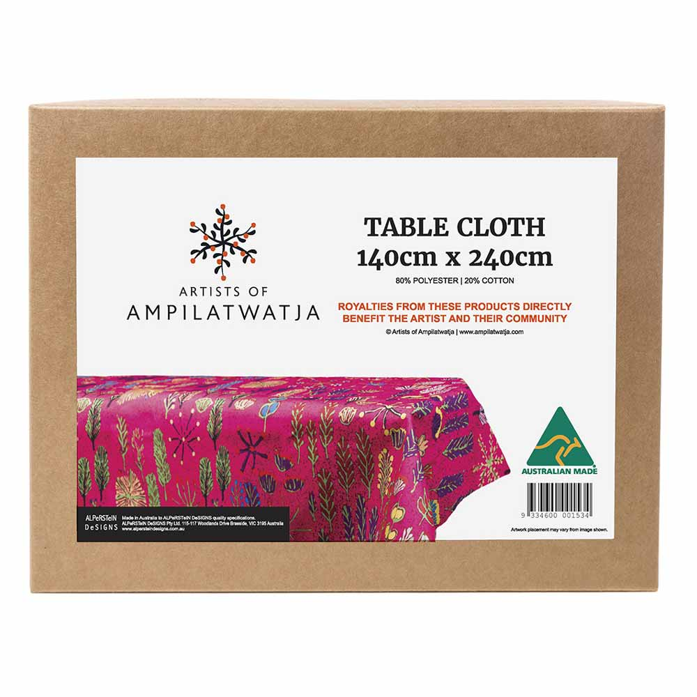 Pink Australian Made Homewares - Betty Morton Table Cloth