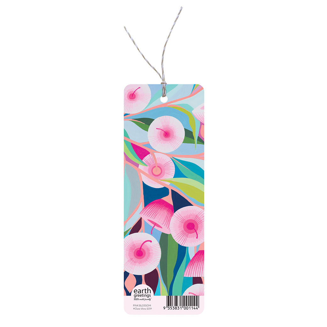 Australian Gifts for Women under $10 Pink Gum Blossom Bookmark
