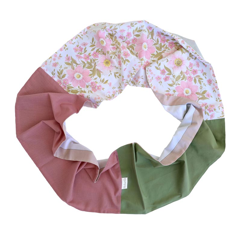 Australian Made Pink Florals Infinity Scarf