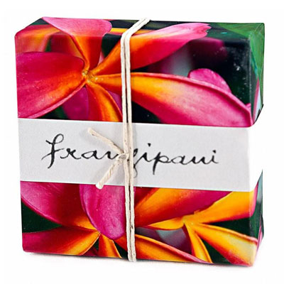 Australian Made Gifts & Souvenirs with the Pink Frangipani Wrapped Soap -by Essense. For the best Australian online shopping for a Accessories