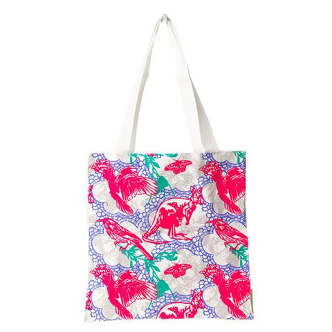 Pink Aussie Animals Tote Bag