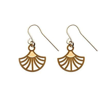 Australian Made Gifts & Souvenirs with the Gold Charlie Earrings -by Polli. For the best Australian online shopping for a Earrings