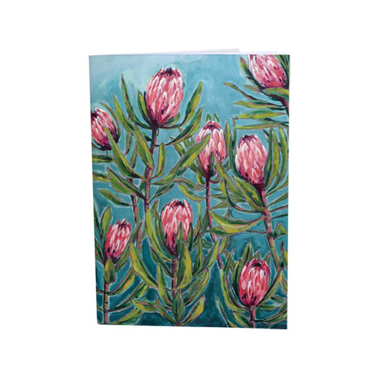 Painterly Protea A6 Notebook