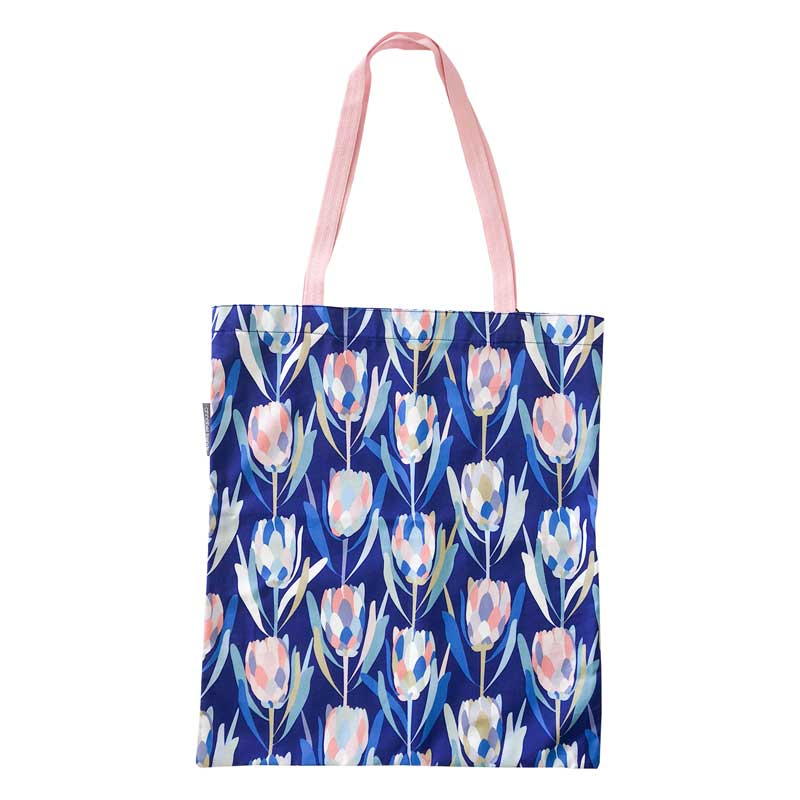 Reusable shopping bag Australian Made protea print