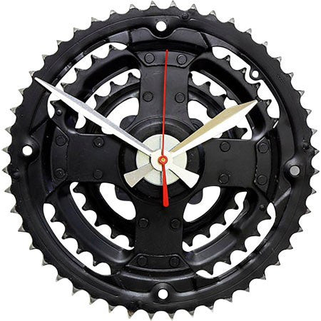Australian Made Gifts & Souvenirs with the Recycled Bicycle Wall Clock -by Tread & Pedals. For the best Australian online shopping for a Homewares