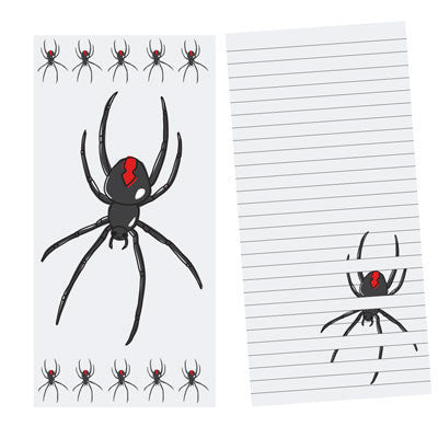 Australian Made Gifts & Souvenirs with the Redback Spider Notepad -by Bits of Australia. For the best Australian online shopping for a Stationery - 3