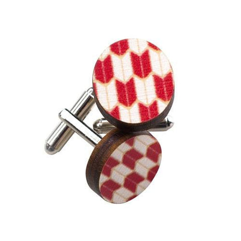 Australian Gifts for Men with the Wooden Red Cufflinks
