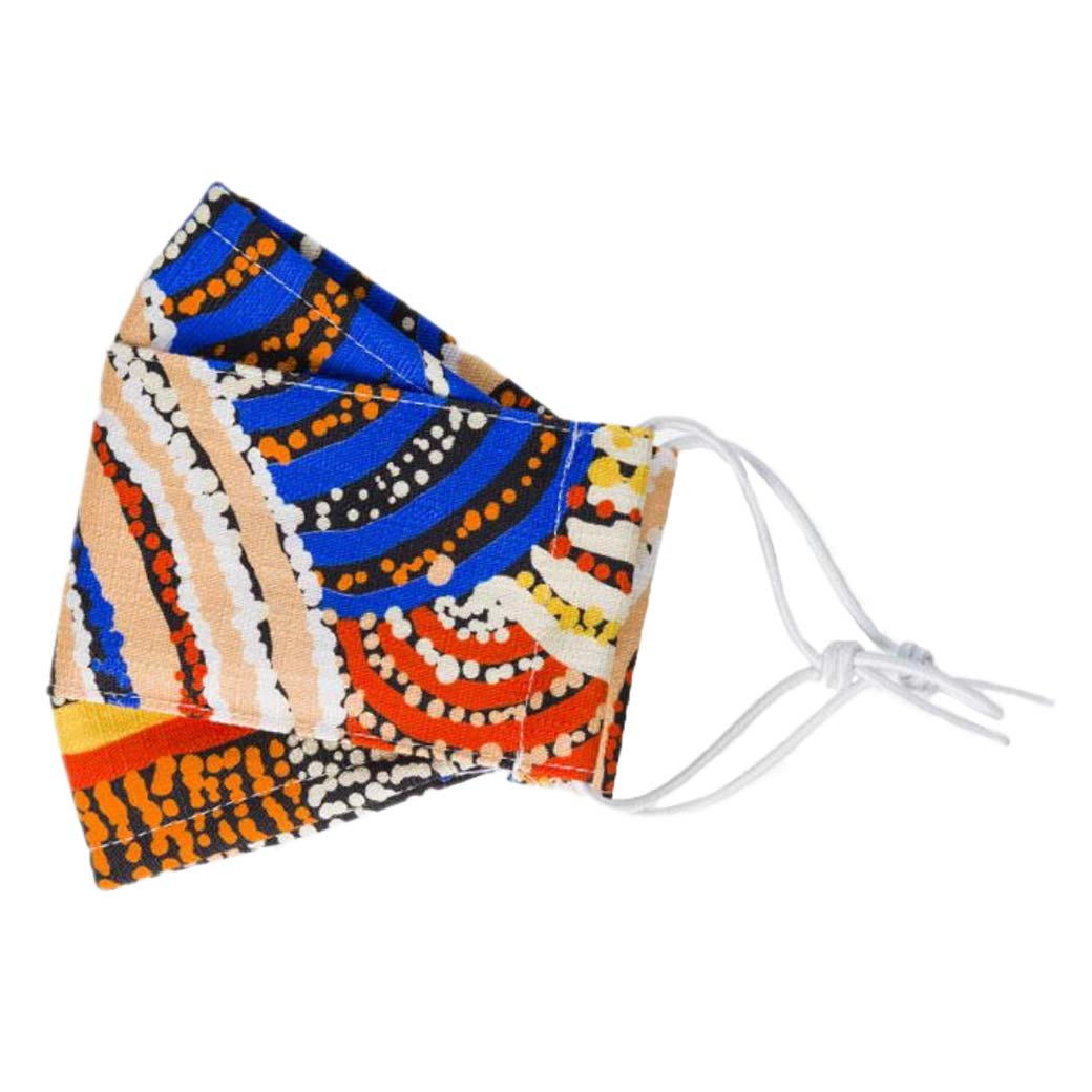 Australian Made Reusable-Fabric-Fask-Mask-Aboriginal-Art-Nora-Davison