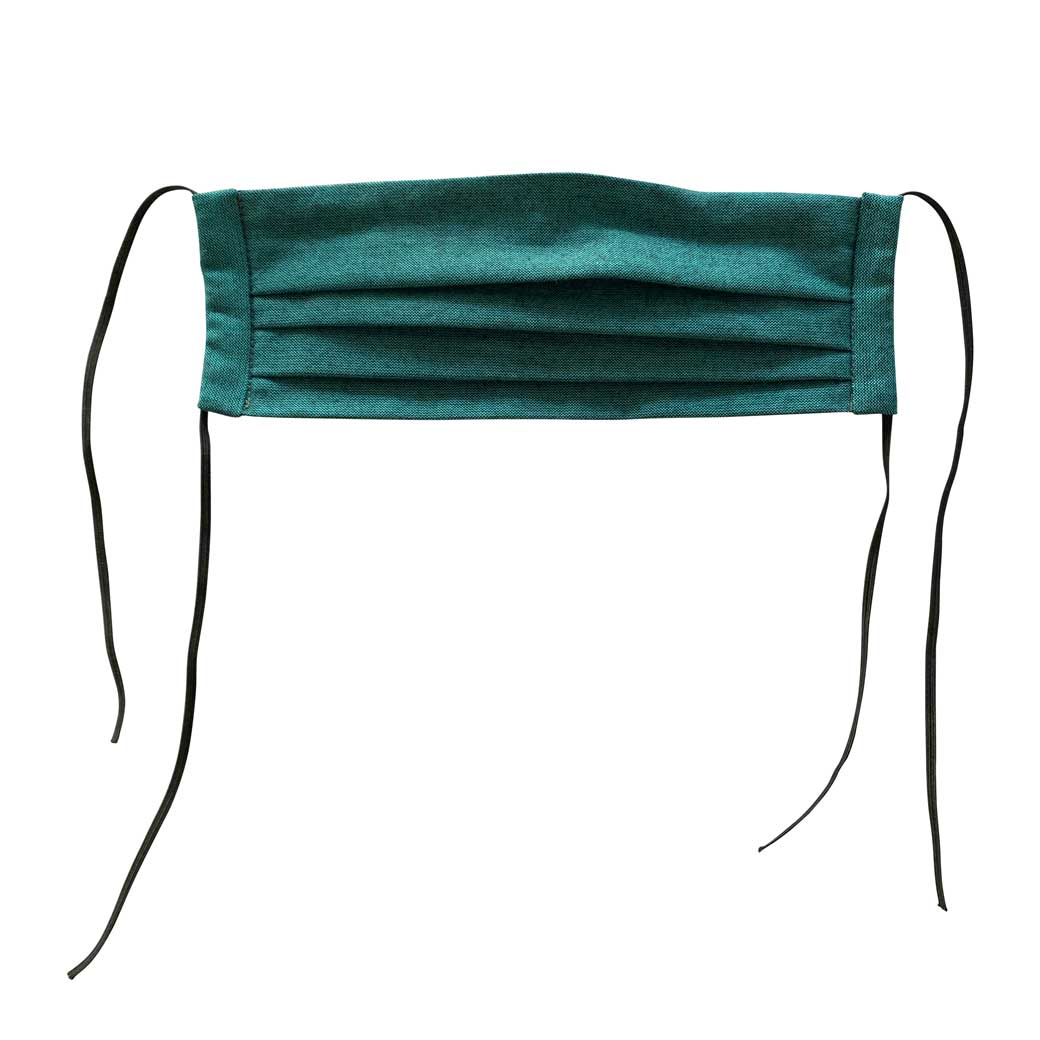 Pleated Reusable Face Mask Teal
