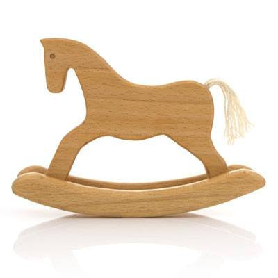 Australian Made Gifts & Souvenirs with the Natural Wooden Rocking Horse -by Milton Ashby. For the best Australian online shopping for a Wooden Toys - 1